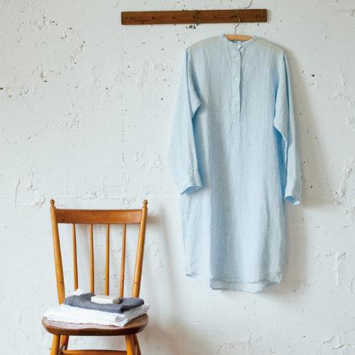 Linomeda/リネンロングナイトシャツ/¥16,800+税
