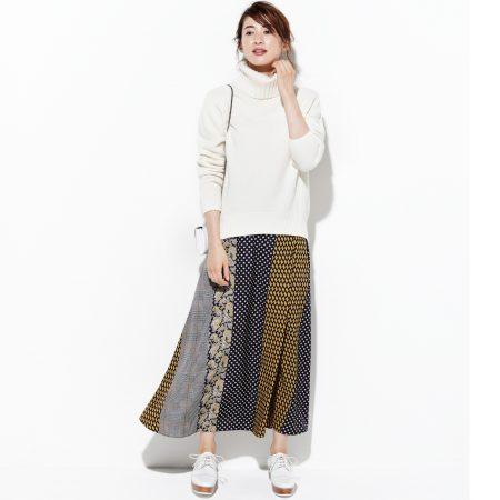UNITED ARROWS/ペイズリープリント スカート/¥17,000+税