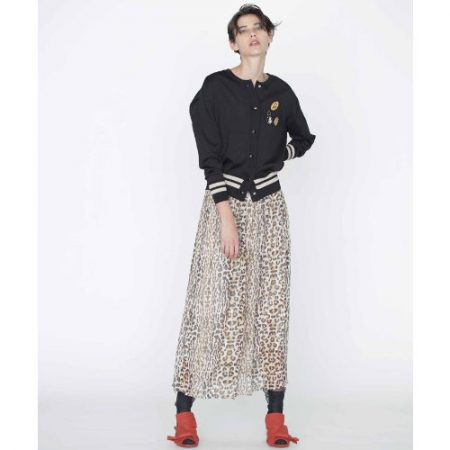 GRACE CONTINENTAL/レオパードギャザースカート/¥29,000+税