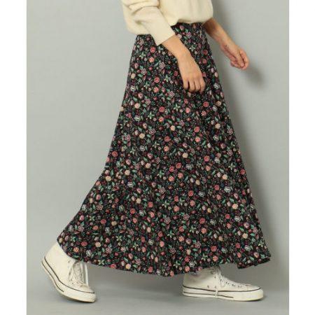 SHARE PARK LADIES/【LIBERTY】フラワープリント ロングスカート/¥14,000+税