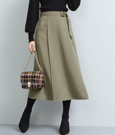 ViS/ベルト付きナローシルエットスカート