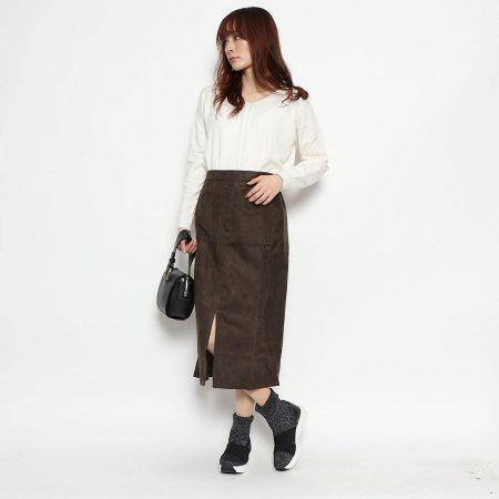 enchanted/クロスゴムニットスニーカーブーツ/¥9,800+税