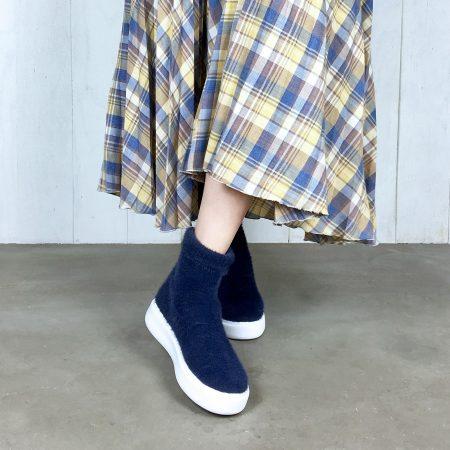 enchanted/ハーフニットスニーカーブーツ/¥11,000+税
