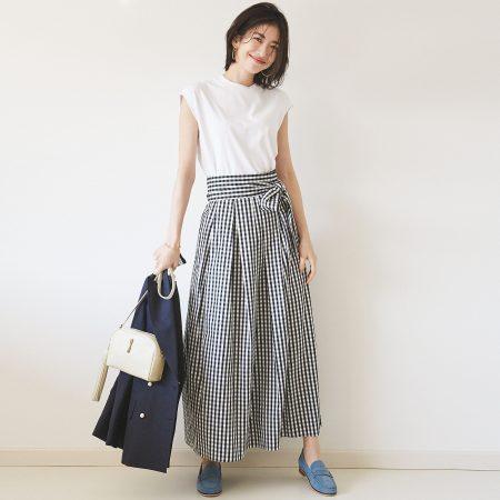Demi-Luxe BEAMSギンガムチェックロングスカート¥21,000+税