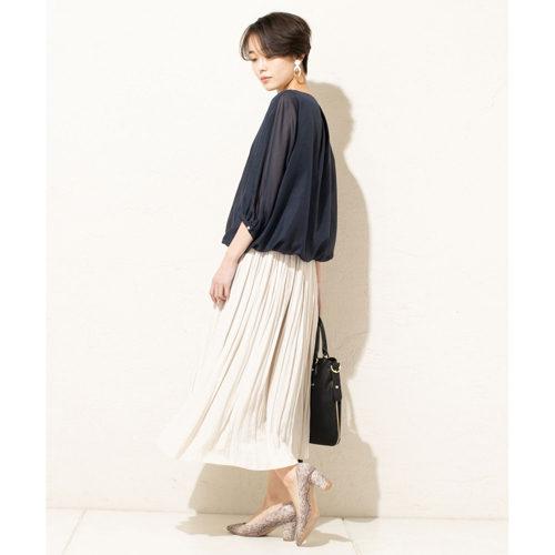 un dix cors/割繊ギャザースカート/¥13,000+税