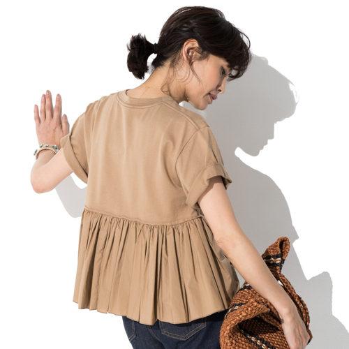 CLANE/バックフリルTシャツ/¥8,900+税