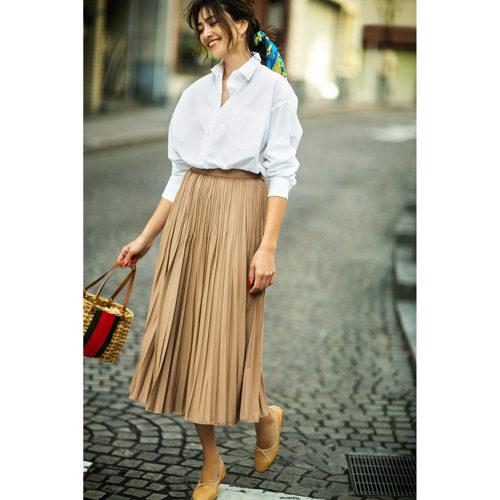suadeo/【使える】ロングプリーツスカート/¥12,000+税
