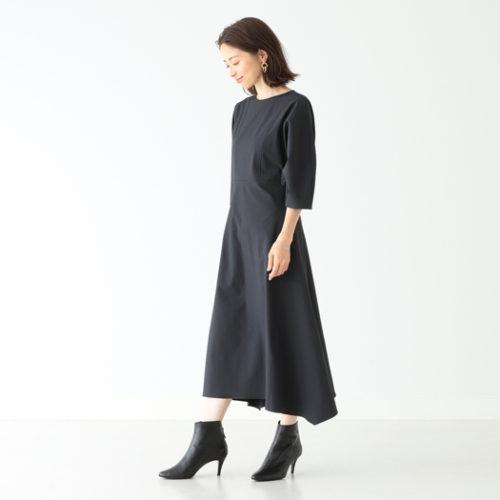 Demi-Luxe BEAMS / ボリュームスリーブ フレアワンピース ¥24,000+税