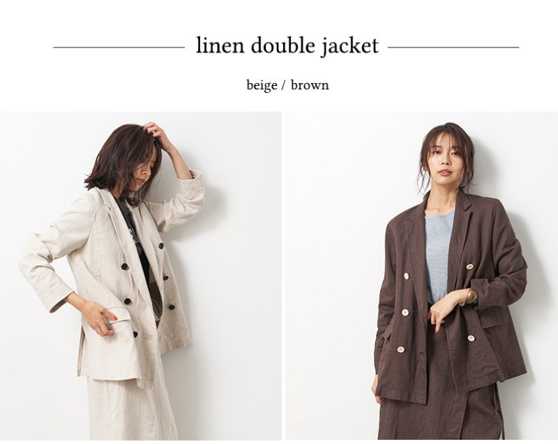 MICA & DEAL linen double jkt ¥33,000+税