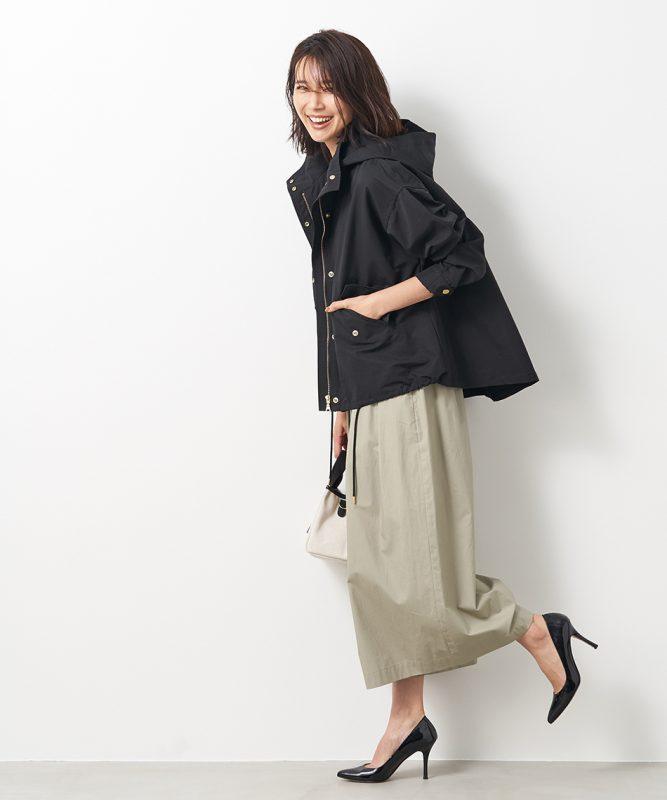 MICA & DEAL back flare nylon blouson ¥28,000+税
