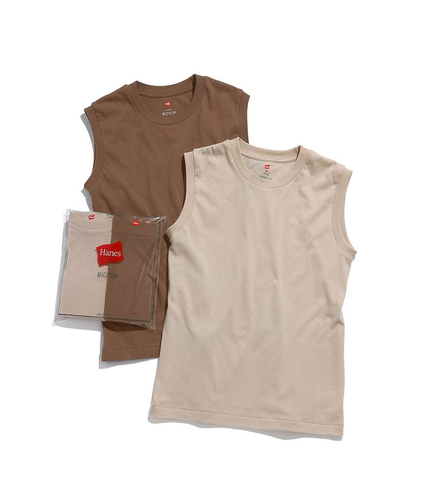 ADAM ET ROPE'/【Hanes for BIOTOP】Sleeveless T-Shirts/¥4,800+税