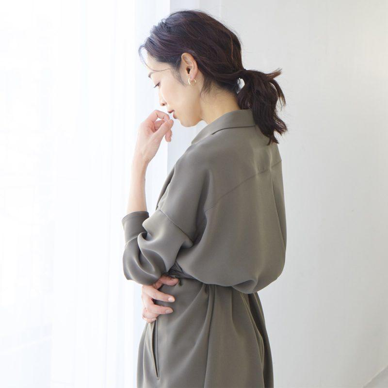 【三尋木奈保さんコラボ】落ち感シャツワンピース/M7days