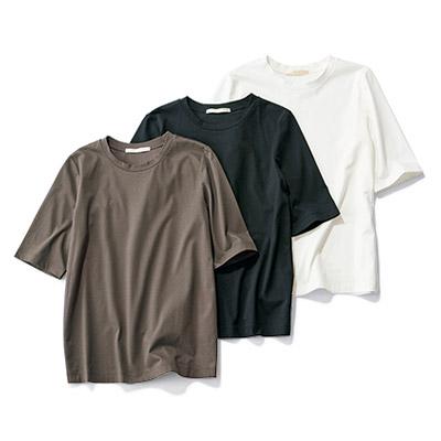 E by eclat 大人五分袖Tシャツ