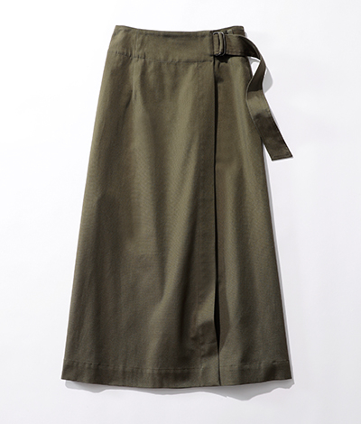 le ciel de HARRISS/【玄長なおこさんコラボ】着やせ ラップスカート/¥18,000+税
