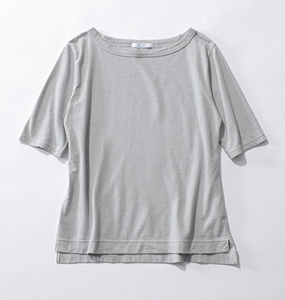 FABRIQUE en planete terre/【玄長なおこさんコラボ】ボートネックTシャツ/¥5,900+税