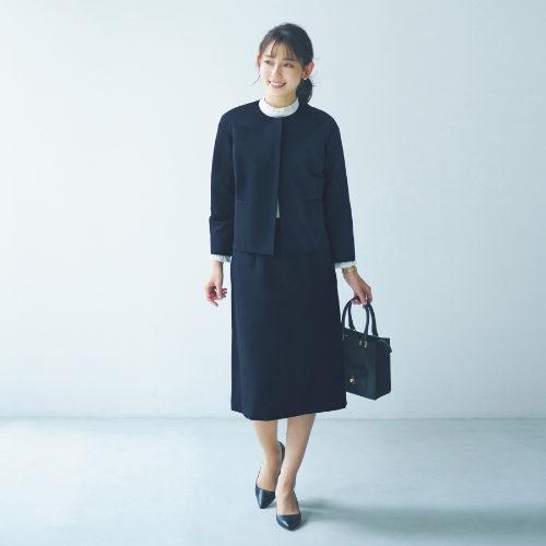 12closet/【洗える】グログランセミタイトスカート/¥12,000+税