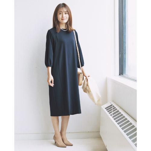 12closet/【洗える】ダブルクロスコクーンワンピース/¥17,000+税