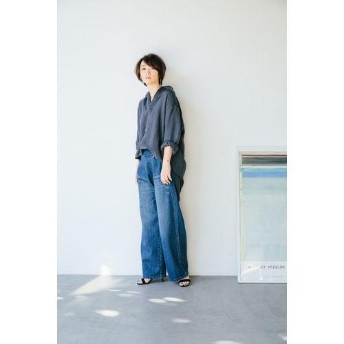 oblekt/【辺見えみり×oblekt】デニムラップワイドパンツ/¥19,000+税