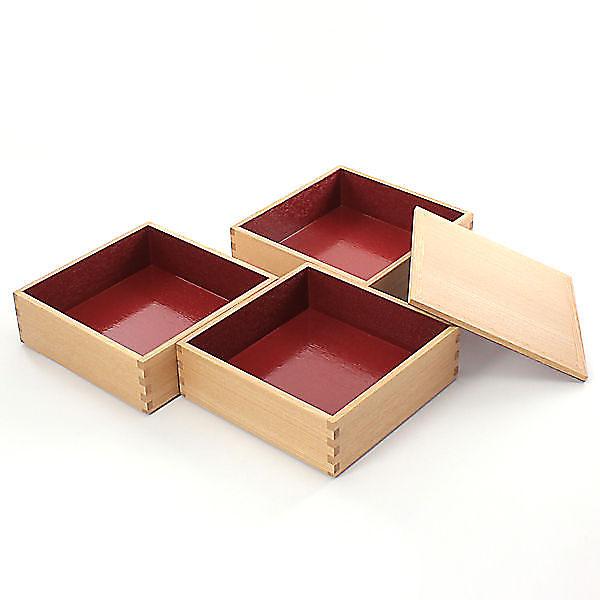 松屋漆器店  白木重箱 三段 ¥19,000+税