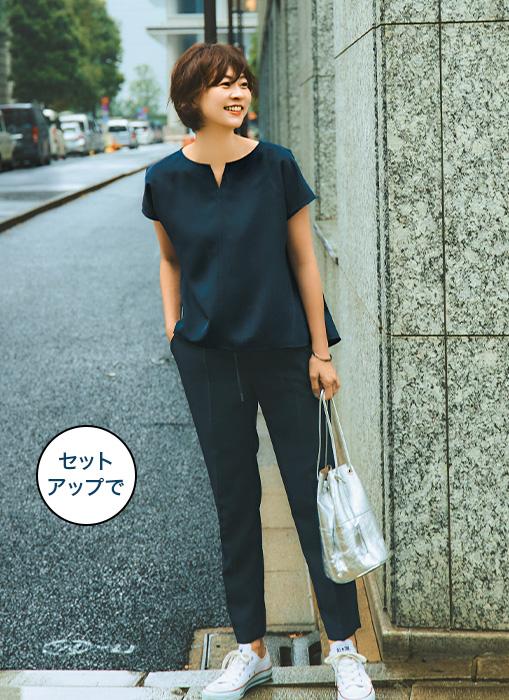 M7days for Office とろみブラウス&とろみパンツセットアップ|Marisol2020年5月号特集