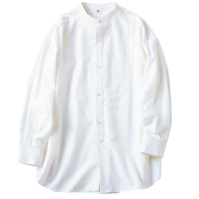 B ビブヨークシャツ ホワイト