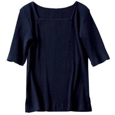 C 2WAYリブTシャツ
