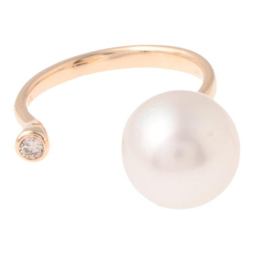 Hirotaka Pearl Diamond Cuff Ring (South Sea Pearl) ¥68,000+税