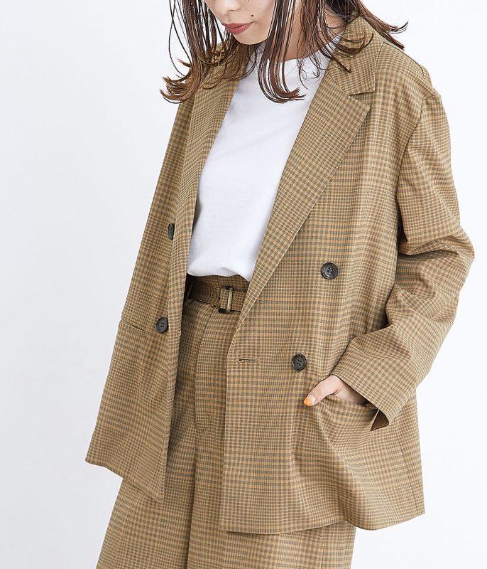 ADAM ET ROPE'/ルーズダブルブレストジャケット/¥25,000+税