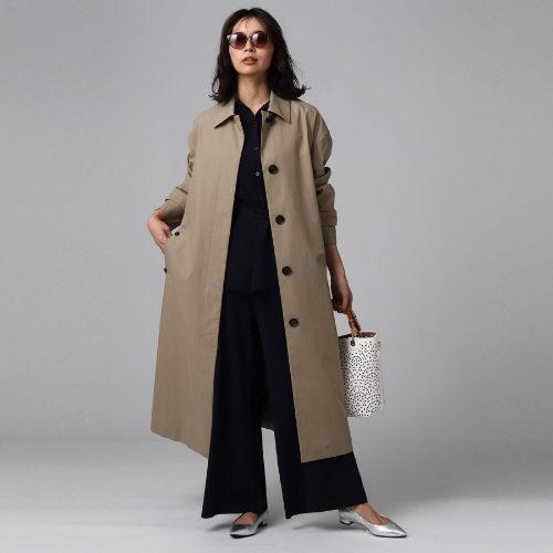 UNTITLED/FABRICA ベルテッドステンカラーコート/¥47,000+税