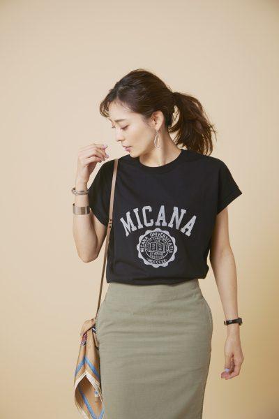 MICANA 【AMERICANA】×【MICA&DEAL】カレッジロゴTシャツ ¥8,000+税