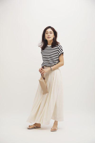 MICANA 【AMERICANA】×【MICA&DEAL】×【ONELUCK】サスティナブルボーダーTシャツ ¥9,800+税