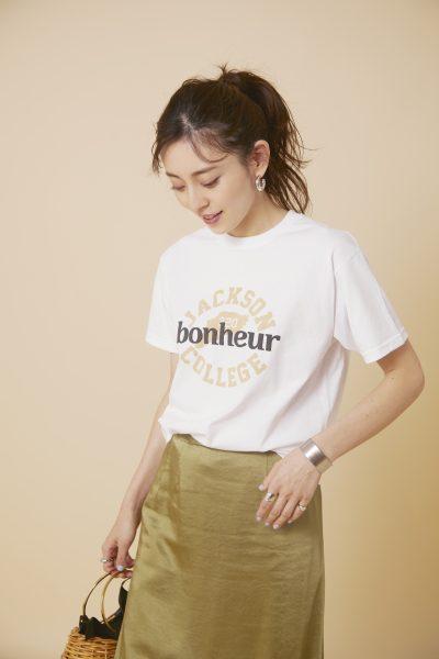 suadeo FRUIT OF THE LOOM コラボレーション カレッジプリントTシャツ ¥4,800+税
