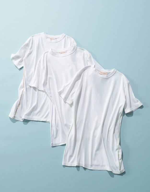 MEYAME/サイドステッチTシャツ/¥8,800