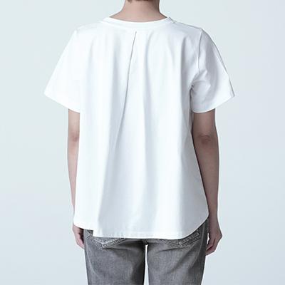 mizuiroind/クルーフレアTシャツ ¥6,800+税