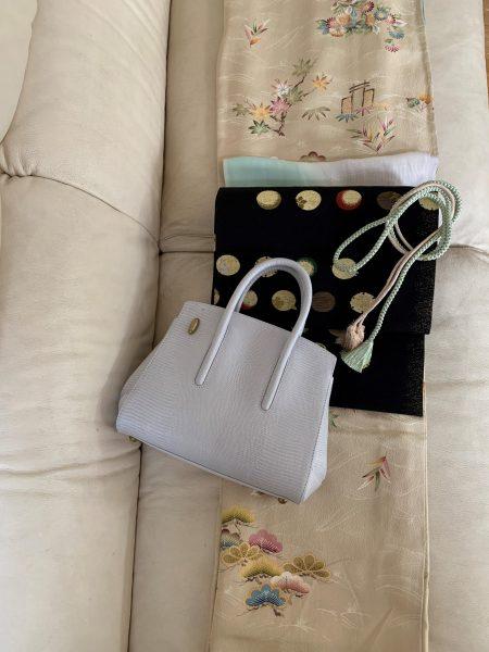 【#stayhome私の巣ごもり】この別注バッグを持って着物を着て、お出かけできる日を楽しみに待つ。