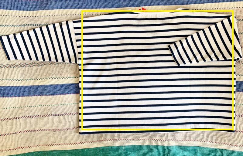 Le minor 【REVERSIBLLE】2WAY ビッグボーダーTシャツ ¥11,000+税