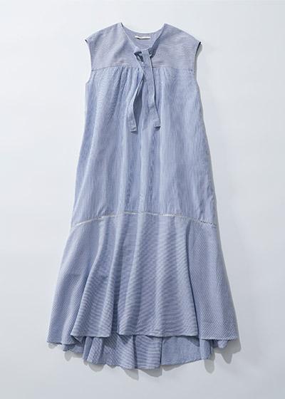 ne Quittez pas POPLIN STRIPE  SLEEVELESS DRESS