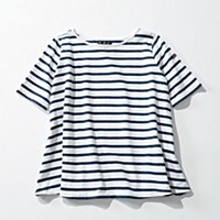 Le minor 【MARINIERE EVASEE】Aラインボーダーカットソー ¥12,000+税