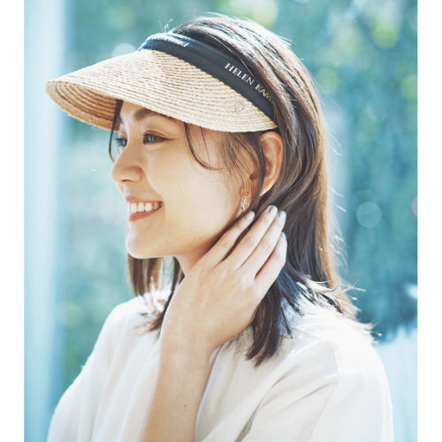 HELEN KAMINSKI/ラフィアサンバイザー Bianca/¥19,000+税