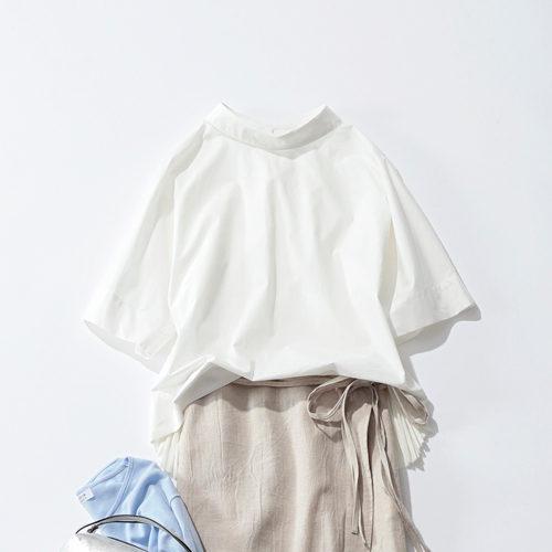 SACRA BACK PLEATS 半袖トップス ¥26,000+税