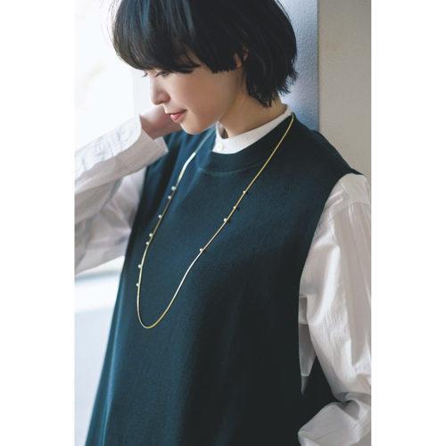 ohrora/パールオンチェーンロングネックレス/¥29,000+税