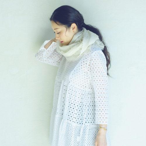 Cloth&Cross/カシミヤニットストール/¥29,000+税