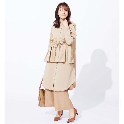 suadeo/CYAN TOKYOコラボ ウェストギャザーシャツワンピース/¥15,000+税