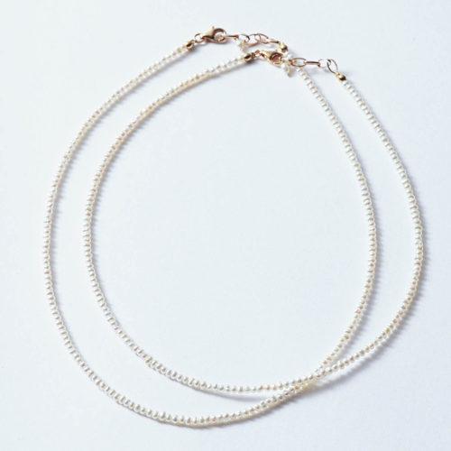 Pearl International/ミニパールネックレス 40cm(ゴールド)/¥16,000+税