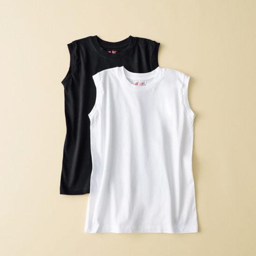 Hanes 2P Hanes Japan Fit for HER スリーブレスTシャツ ¥2,800+税
