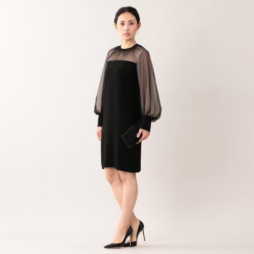 EPOCA/バックサテンジョーゼット ドレス/¥79,000+税