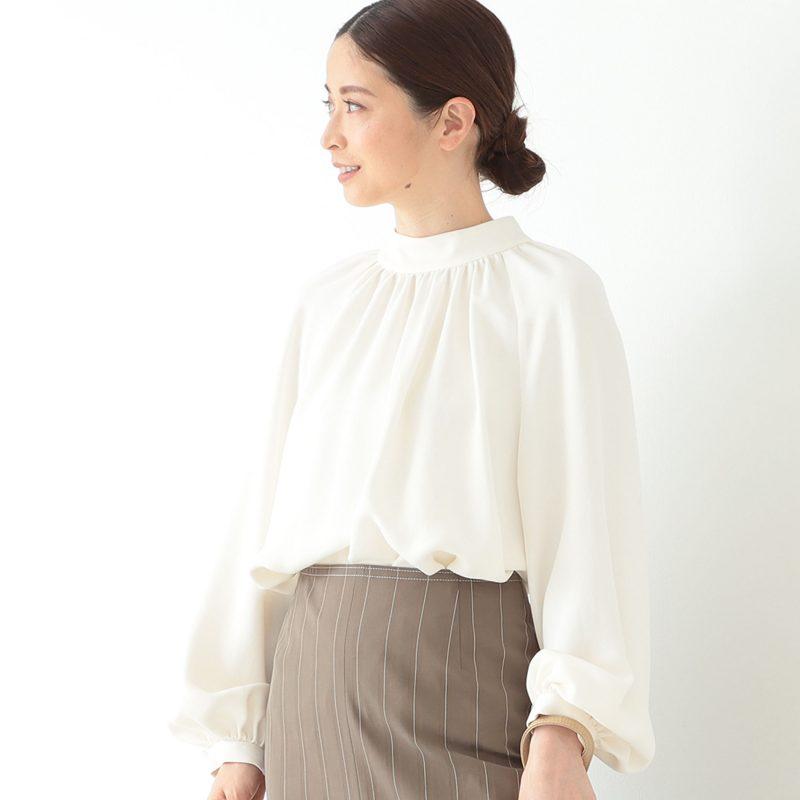 Demi-Luxe BEAMS   ギャザー ドルマンブラウス   ¥18,000+税