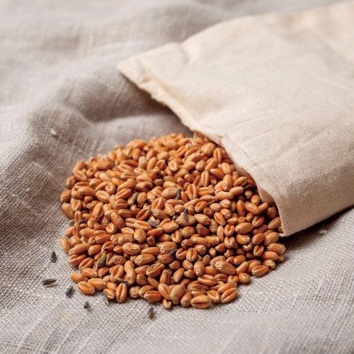 KLIPPAN 麦の温冷ネックピロー ラベンダーの中身
