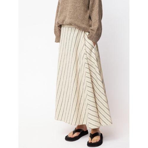 FLORENT/リネンストライプスカート/¥28,000+税