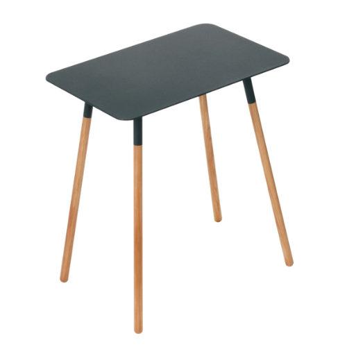 PLAIN サイドテーブル プレーン角型 ブラック ¥6,300+税